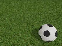 Calcio o calcio sul campo di calcio sulla vista superiore Fotografia Stock