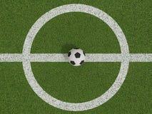 Calcio o calcio sul campo di calcio sulla vista superiore Immagini Stock Libere da Diritti