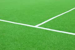 Calcio o campo sintetico di Footbal Immagini Stock Libere da Diritti