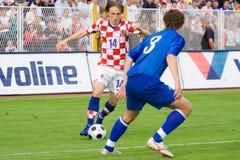 Calcio o giocatore di football americano - Luka Modric Immagini Stock Libere da Diritti