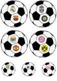 Calcio, palla Fotografia Stock