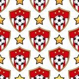 Calcio senza cuciture del modello di sport illustrazione di stock