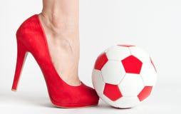 Calcio sexy Immagini Stock