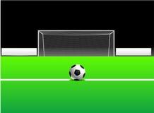 Calcio/sfera ed obiettivo di gioco del calcio Fotografia Stock