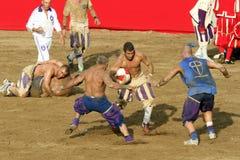Calcio-storico fiorentino, Florenz Stockfotografie