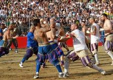 Calcio-storico fiorentino, Florenz Lizenzfreies Stockbild