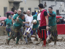 Calcio storico, florence, Italien Royaltyfri Bild