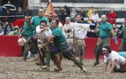 Calcio storico, florence, Italien Arkivfoton