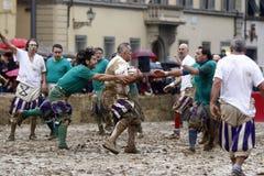 Calcio storico, florence, Italien Arkivbilder