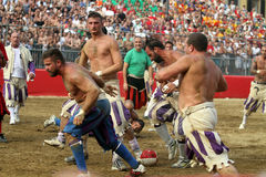 Calcio storico, florence, Italien Fotografering för Bildbyråer