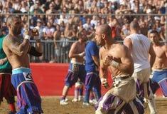 Calcio storico, florence, Italien Arkivfoto