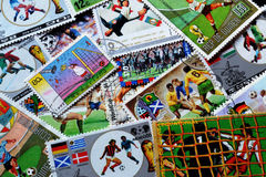 Calcio sui bolli Fotografia Stock