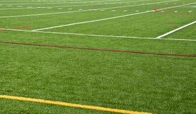 calcio verde del campo Fotografia Stock