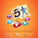 Calcio y vitamina de Omega para el concepto Logo Gold Kids de los niños Fotos de archivo