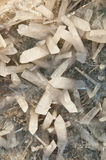 Calcite. Detail of rhombohedral crystals of prismatic appearance royalty free stock images