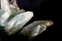 Calcite on chlorite. A close up of a piece of calcite on chlorite Royalty Free Stock Photos