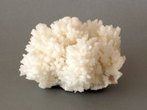 Calcite crystals. A cluster of white Calcite crystals Stock Photo