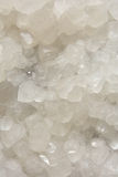 Calcite mine in white color. Background in color and shape of calcite mine, shown as beautiful and featured color, pattern and texture Royalty Free Stock Images