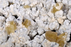 Calcite and Sphalerite. Cleophane, water, limestone, calcium carbonate Royalty Free Stock Images