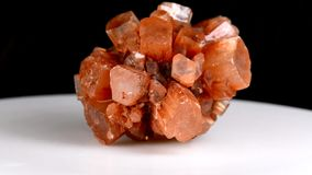 Calcite on turn table. Closeup stock video