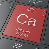 Calcium. Element from periodic table Royalty Free Stock Image