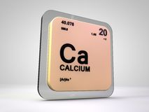 Calcium - Ca - chemical element periodic table. 3d render Royalty Free Stock Photo