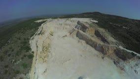 Calcium carbonate quarry in Dalmatian hinterland stock video footage