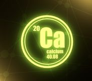 Calcium chemical element. royalty free illustration