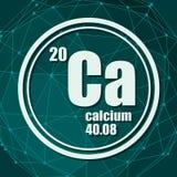 Calcium chemical element. vector illustration