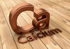 Calcium 3d sign text. 3d rendering. Calcium 3d sign text Royalty Free Stock Photo