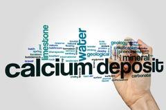 Calcium deposit word cloud concept on grey background.  Stock Image