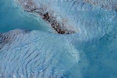 Calcium deposits  on travertine terraces Stock Images