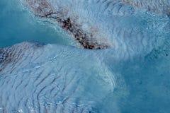 Calcium deposits  on travertine terraces Stock Image