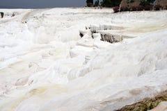 Calcium deposits  on travertine terraces Stock Photo