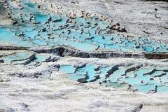 Calcium deposits   travertine Royalty Free Stock Images