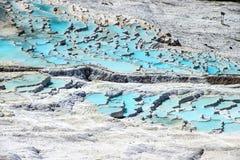 Calcium deposits   travertine Stock Images