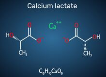 Calcium lactate, C6H10CaO6, lactate anion molecule. It is used in medicine to treat calcium deficiencies and as food additive E327