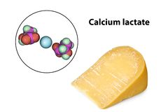 Calcium lactate crystals on cheese surface
