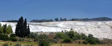 calcium Pamukkale travertine Royalty Free Stock Image