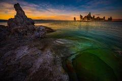 Calcium Spires at Mono Lake Stock Photography