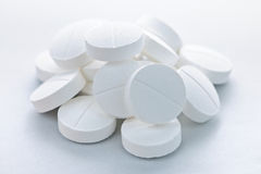 Calcium tablets Royalty Free Stock Image