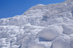 Calcium travertine terraces in Pamukkale, Turkey. Royalty Free Stock Photography