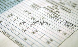 Calcola la tabella il cliente le finanze Immagini Stock