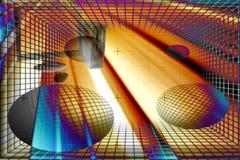 Calcolatore astratto Fotografia Stock