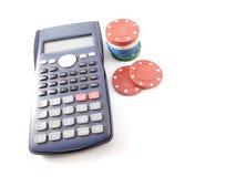 Calcolatore con i chip di mazza Immagini Stock Libere da Diritti