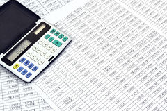 Calcolatore con i numeri Fotografie Stock