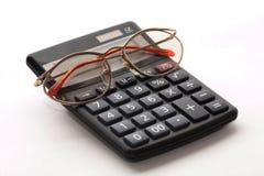 Calcolatore con i vetri Fotografia Stock Libera da Diritti