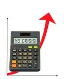 Calcolatore con la freccia ascendente Immagine Stock