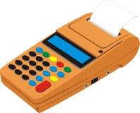 Calcolatore con la stampante di carta Immagini Stock Libere da Diritti