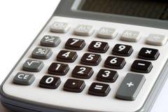 Calcolatore - conteggio della posizione finanziaria Fotografia Stock Libera da Diritti